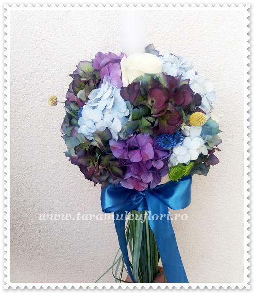 Lumanari de nunta din hortensie.1005